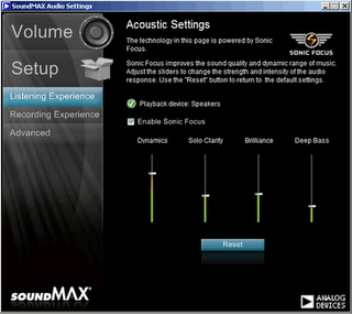 SoundMAX HD Audio 6.10.02.6585