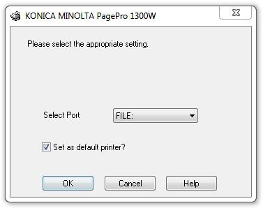 Konica minolta 1350e drivers for windows download.